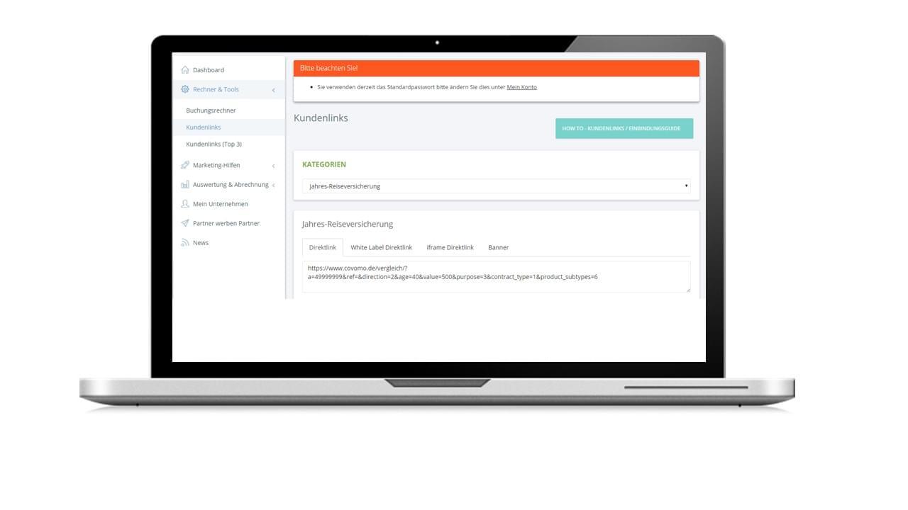 Das Covomo Portal für Makler und Affiliates